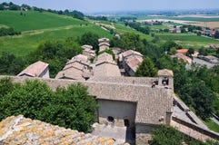 Schloss von Torrechiara. Emilia-Romagna. Italien. lizenzfreie stockbilder