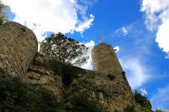 Schloss von Turenne und von Ausflug César, Corrèze, Limousin Lizenzfreies Stockfoto