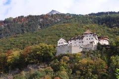 Schloss von Vaduz Stockbild