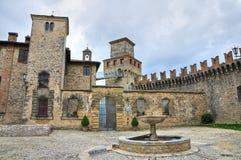Schloss von Vigoleno. Emilia-Romagna. Italien. lizenzfreies stockfoto