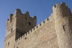 Schloss von Villena, Spanien Lizenzfreies Stockfoto