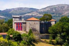 Schloss von Vimianzo Galizien, Spanien Stockbilder