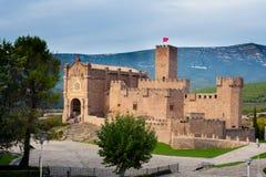 Schloss von Xavier in Navarre Stockfotos