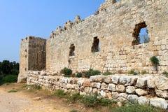 Schloss-Wand und Kontrollturm Stockfotos