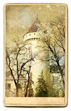 Schloss - Weinlesekarte Lizenzfreie Stockbilder