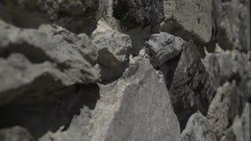 Schlossarchitektur Felsenwand Kaukasus Georgia, Hintergrund, Bau stock video footage