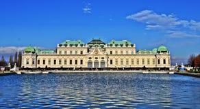 Schlossbelvedere Wien Royalty-vrije Stock Afbeelding