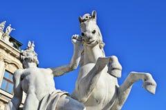 Schlossbelvedere Wien Royalty-vrije Stock Foto's