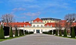 Schlossbelvedere Wien Stock Fotografie