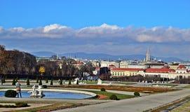 Schlossbelvedere Wien Stock Afbeeldingen