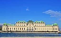 Schlossbelvedere Wien Stock Afbeelding