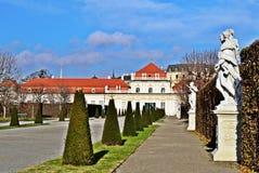 Schlossbelvedere Wien Stock Foto's