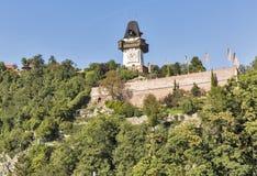 Schlossberg or Castle Hill mountain in Graz, Austria Royalty Free Stock Image