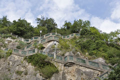 Schlossberg or Castle Hill mountain in Graz, Austria Royalty Free Stock Photo