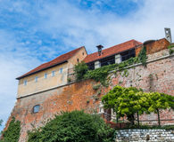 Schlossberg slott Graz Royaltyfri Fotografi