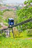 Schlossbergbahn - канатная железная дорога в Фрайбурге im Breisgau Стоковое Изображение RF
