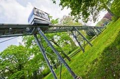 Schlossbergbahn - funicular kolej w Freiburg im Breisgau Fotografia Stock