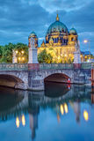 The Schlossbruecke and the cathedral in Berlin Stock Image