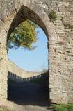 Schlosseingang stockfotografie