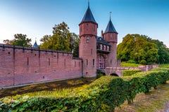 Schlosseingang des Schlosses nahe Utrecht Stockbild