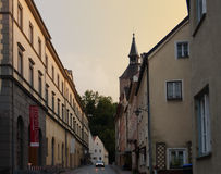 Schlossergasse, Landsberg am Lech Baviera, Alemania Foto de archivo