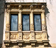 Schlossfenster lizenzfreies stockbild