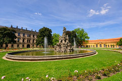 Schlossgarten en verano en Erlangen, Alemania Foto de archivo libre de regalías