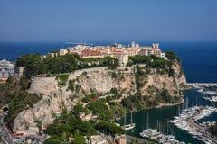 Schlosshügel von Monaco Stockfoto