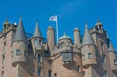 Schlosshelme und -markierungsfahne Lizenzfreie Stockbilder