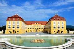 Schlosshof Österrike Juni 10, 2016: Schlosshof slott Fotografering för Bildbyråer