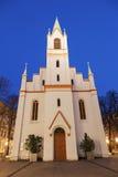 Schlosskirche au coucher du soleil Photos stock