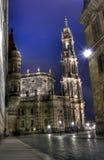 Schlosskirche Dresden Nachtansicht Fotografia de Stock Royalty Free