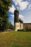 Schlosskirche Wittenberg Tower. Tower of the Schlosskirche Wittenberg, where Martin Luther nailed his 95 theses and where he is buried. Unesco World Cultural Royalty Free Stock Photos
