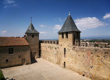Schlosskontrolltürme Lizenzfreies Stockfoto