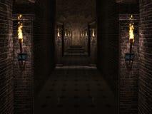 Schlosskorridor Lizenzfreie Stockfotografie