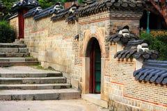 Schlossmauer Koreas Deoksugung Lizenzfreies Stockbild