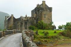 Schlosspanorama Eilean Donan, Schottland lizenzfreies stockfoto