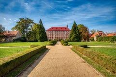 Schlosspark in Libochovice stockfotos