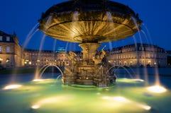 Schlossplatz Fountain in Stuttgart, Germany Royalty Free Stock Photo