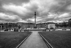 Schlossplatz Palace Square. Stuttgart Royalty Free Stock Image