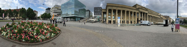 Schlossplatz panorama, Stuttgart Royalty Free Stock Photography