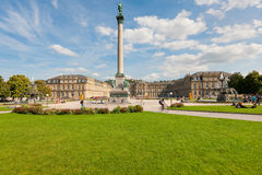 Schlossplatz  in Stuttgart Stock Photo