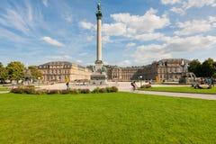 Schlossplatz  in Stuttgart Stock Photo