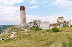 Schlossruinen in Olsztyn Stockfotografie