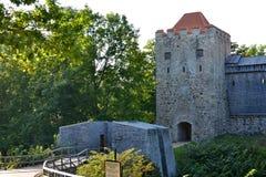 Schlossruinen in Sigulda Stockbild