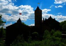 Schlossschattenbild Stockfoto