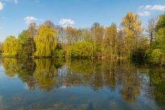 Schlossteich Wittringen, Tyskland Fotografering för Bildbyråer