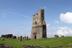 Schlossunterhalt bei Aberystwth, Wales Stockfotos