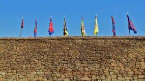 Schlosswand Stockbild