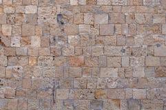 Schlosswand-Blockmuster der alten Baufelsentapete Stockbild